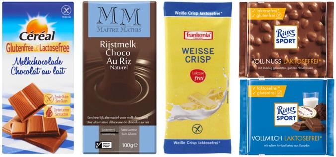 Lactosevrije chocolade voorbeelden