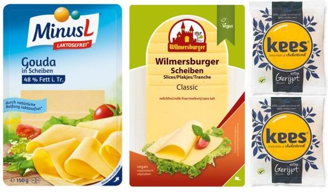 Voorbeelden van lactosevrije kaas