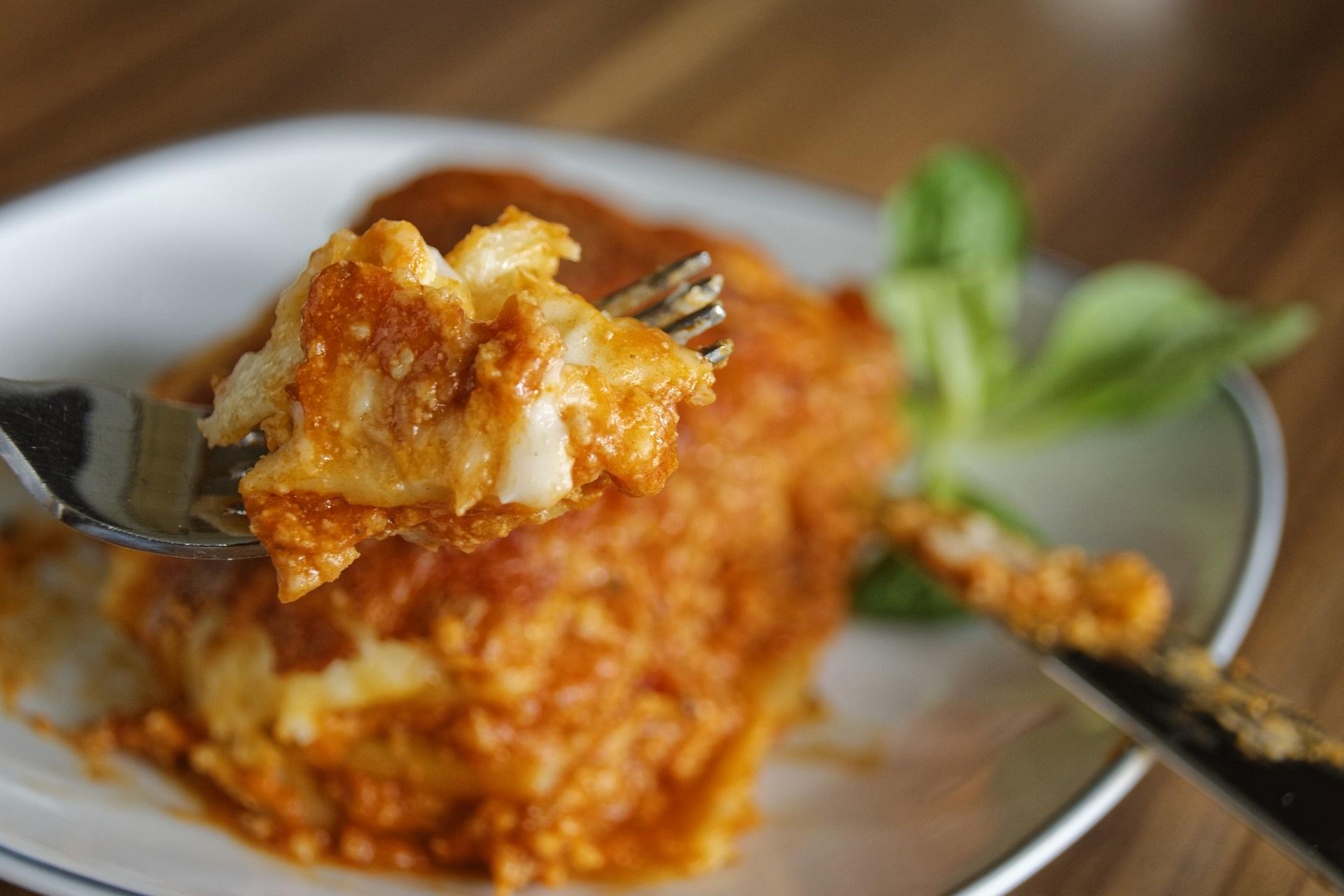 Lactosevrije lasagne recept