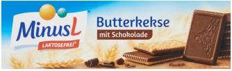 MinusL lactosevrije boterkoekjes met chocolade